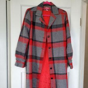 Vintage Ceechi collared wool coat. Long length.